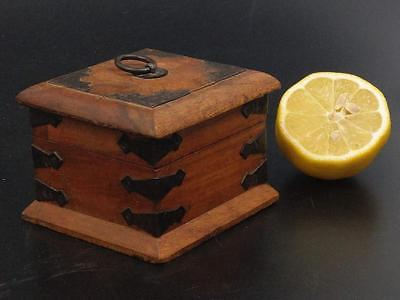Antique rosewood box Metal mounted Tabacco box 19h century