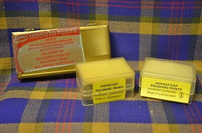 Lot of 3 Vtg Dental/Jewelry ISOPAST CAP Polishing Points(Liechtenstein)&Mounted