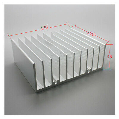 100*120*45mm Anodized Aluminium Heat Sink For CPU Power Transistor TO-126 TO-220