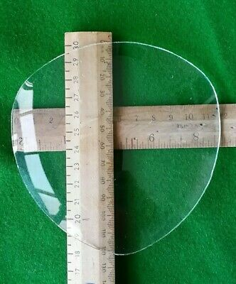 New Old Stock Convex Clock Glass Tri-oval 123x118mm
