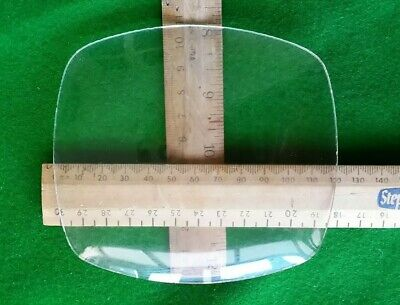 New Old Stock Bentima Convex Clock Glass Oval Rectangle 120x108mm