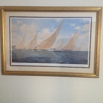 LIMITED EDITION PRINT BY STEVEN DEWS, Brittania racing in the Solent