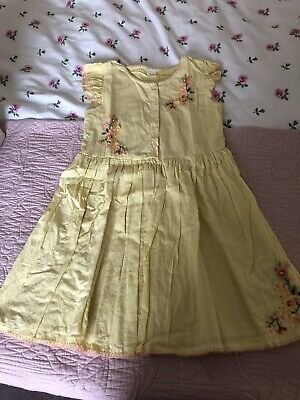 Girls Lemon Yellow Floral Beading Party Dress Next 8 Years