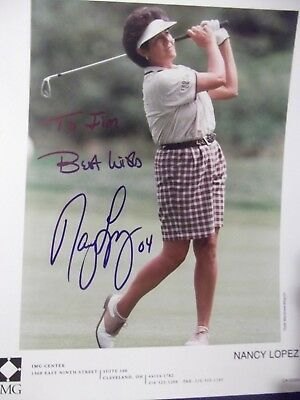 LPGA Tour Legend NANCY LOPEZ hand signed photo