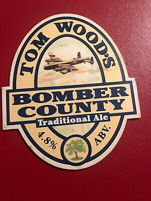Tom Woods Brewery. Bomber County. Beer Pump Clip (front)