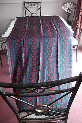 Chinese Silk Piano Shawl, hand printed design, vintage