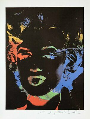 """Andy Warhol, """"Marilyn"""" Hand signed Print, 1986 with COA"""