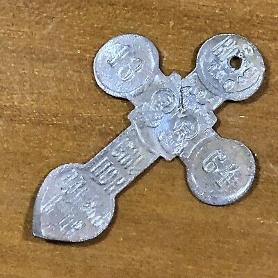 1864 Byzantine Cross Artifact Medieval Style European Russian Orthodox Pendant