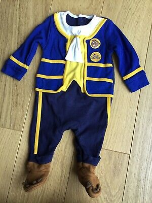 Disney Beauty And The Beast Sleepsuit Outfit Dressing Up 0-3 Months ❤️ George