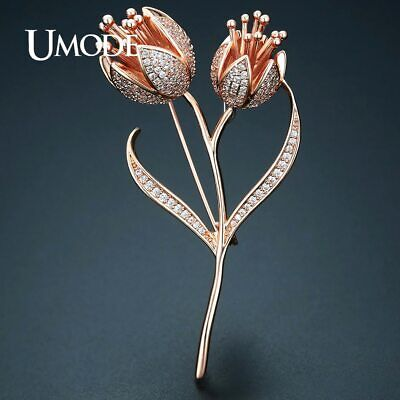 UMODE New Fashion Jewelry Elegant Tulip Flower Brooches for Women Wedding Party
