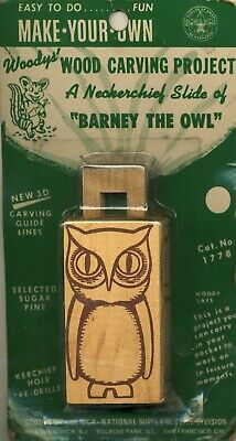 Boy Scouts of America Wood Carving Projest Barney The Owl Kit