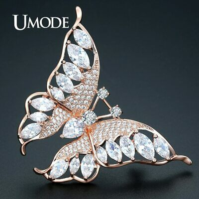 UMODE New Fashion Brooches for Women Wedding Bridal Apparel Accessories Rose