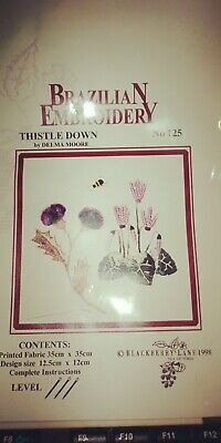 Blackberry Lane - Brazilian Embroidery Chart & Fabric Pack - Thistle Down N125