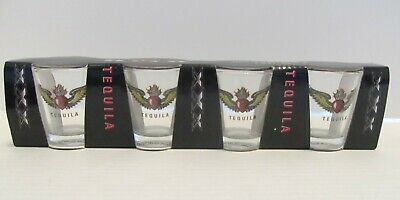 Set Of 4 Tequila Shot Glasses New 1.5 Fl. Oz.