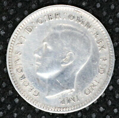 Vintage Collectors 1939 Australian Threepence, 3d Silver Coin