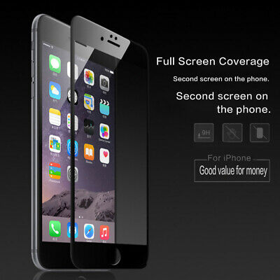 Tempered Glass Full Coverage Screen Protector For iPhone 6 7 8 Plus X Xs Max Xr