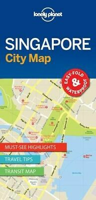 NEW Singapore City Map By Lonely Planet Folded Sheet Map Free Shipping