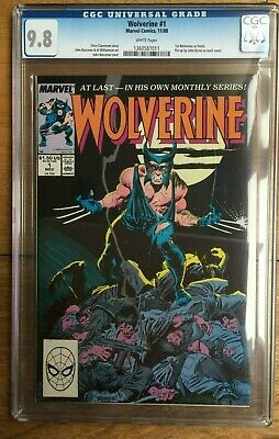 Wolverine #1 1988 White Pages 1st Wolverine as Patch CGC 9.8