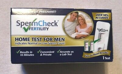 New SpermCheck Fertility Home Test For Men 1 Test Free Shipping 05/22^