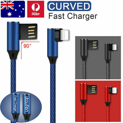 iKaufen Elbow Lightning USB Fast Charger Cable For iPhone X 8 7 6 iPad iPod AU