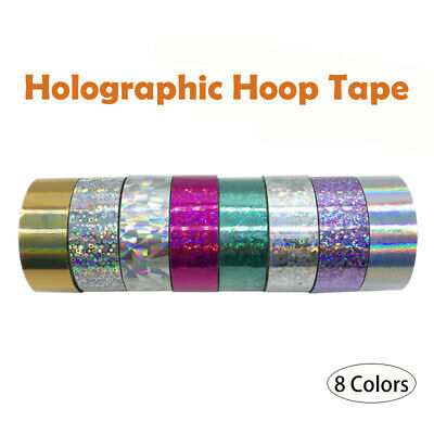 Holographic Hoop Tape - Glitter Multi Dot - Self Adhesive - 19mm x 10m - Lures