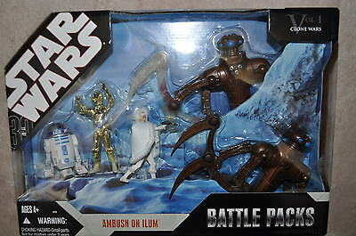 Star Wars Battle Packs Ambush On Ilum Clone 5 Figs Chameleon Droids R2 Padme New