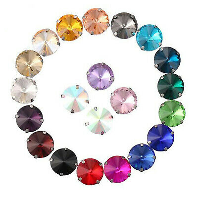 50pcs Multicolors Assorted Round Rhinestone Cabs Costumes Decor DIY Accessories