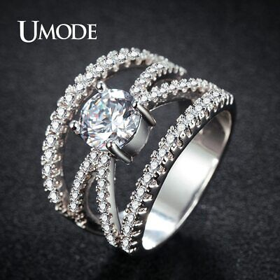 UMODE Design Fashion Luxury CZ Stone Ring for Women Jewelry Party Accesorios