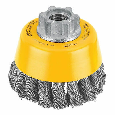 "DeWALT 4"" x 5/8""-11 HP .020 Carbon Knot Wire Cup Brush - DW4916"