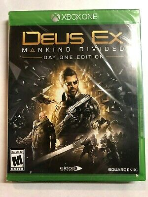 Deus Ex: Mankind Divided Day One Edition for Xbox One Brand New! Factory Sealed!