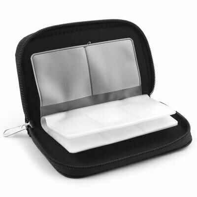 Nylon 22 Slots Storage Carrying Pouch Bag Case Black for CF Micro SD Memory Card