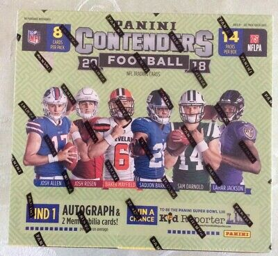 2018 Panini Contenders Football Retail Sealed Box 1 Auto & 2 Relics Per Hot