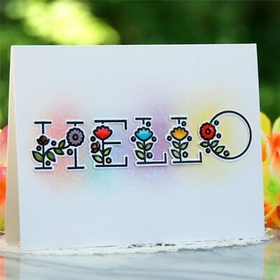 Floral Alphabet Letter Clear Stamps and Dies Scrapbooking Metal Cutting Dies