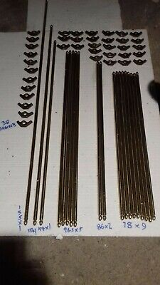 Solid brass old authentic stair rods set