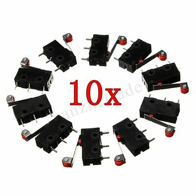 10PCS Micro Roller Lever Arm Open Close Limit Switch Kw12-3 PCB Microswitch