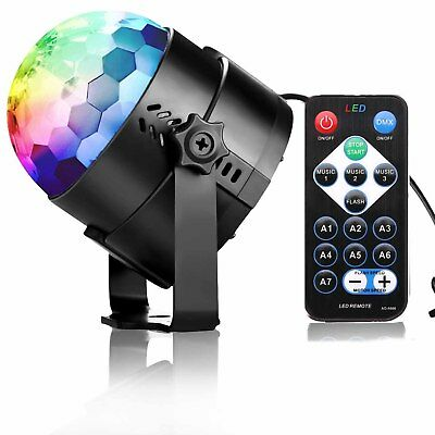 USB RGB  LED Disco Ball DJ Party Light Effect Remote Sound Activated Strobe