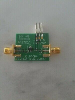 RF3315 Amplifier Evaluation Board with SMA Connectors & 5 spare SOT89 Amplifiers