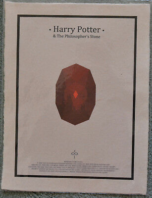 Art Print Harry Potter Glasses and Scar Print on Page from Philosopher/'s Stone