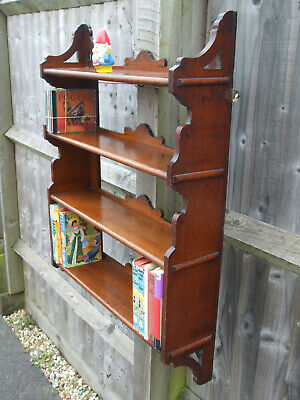 Antique Victorian wall shelf bookcase, excellent quality, useful space saver