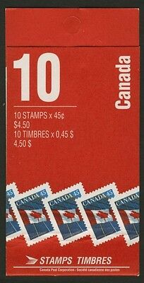 Canada 1362a Booklet BK205b MNH Flag over Building