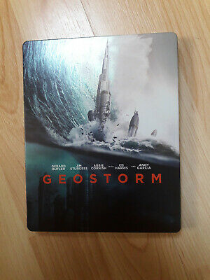 blu ray steelbook geostorm 3D 2D complet comme neuf.