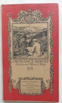 Antique OS Ordnance Survey Popular One Inch Cloth Map 135 Hastings 1928