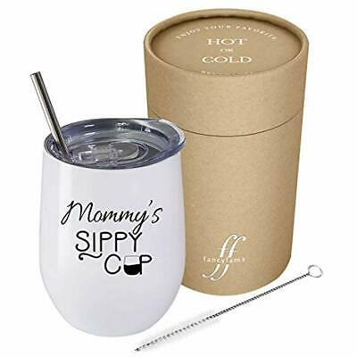 STAINLESS STEEL WINE Tumbler With Lid Mommys Sippy Cup