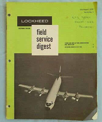 LOCKHEED FIELD SERVICE DIGEST  1959- detecting water in fuel, o-ring inspection