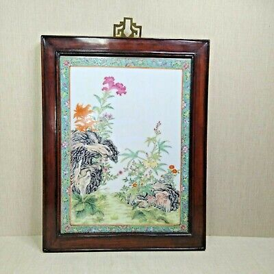 Antique Chinese Plaque, Early 20th century. Made from porcelain.