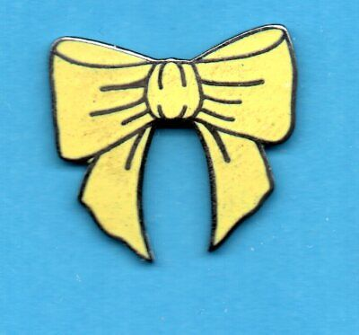 """Pin's Desert Storm Yellow Ribbon USA """" Hope for soldiers' return """" Signé by P.D"""