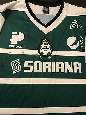 b6390fd73 Vintage Club Santos Laguna Jersey Men Size XL New (Autographed Players  Jersey)