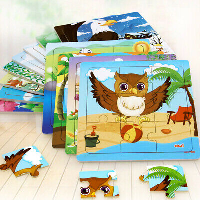Animals Wooden Colorful Jigsaw Puzzle Educational Toy For Toddler Kids