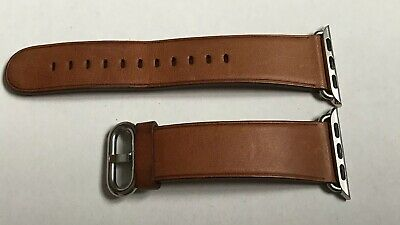 Apple Watch 38 / 40mm Saddle Brown Leather Classic Buckle Band Strap