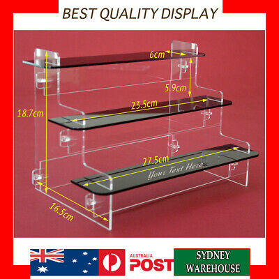 3 Tier shelves Acrylic Perspex display Stand case box for figures, models, Funko